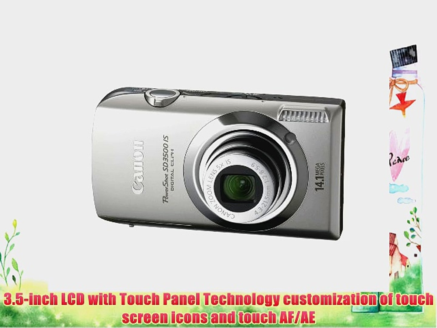 Canon PowerShot SD3500IS 14.1 MP Digital Camera with 3.5-Inch Touch Panel LCD and 5x Ultra
