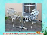 Ensemble bistrot M28 aluminium table carr?e   2 chaises