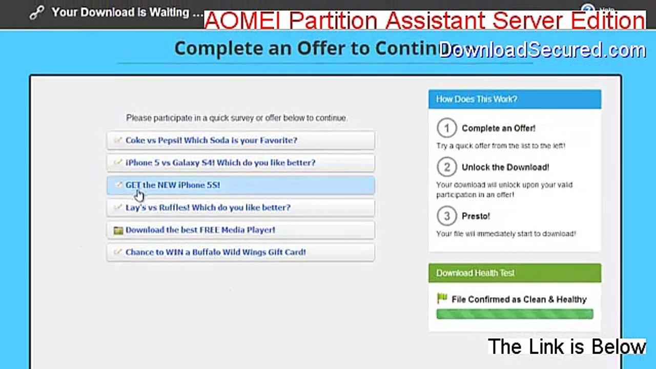 AOMEI Partition Assistant Server Edition Crack - aomei partition assistant  server edition crack