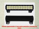 Kohree? 90W LED Phare de travail Noir feux WorkLight Spot LED Phares de voiture tout-terrain
