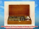 MassageMaster Kit Pierres Chaudes de Massage: 51 Pierres en Basalte Appareil Chauffe Pierres