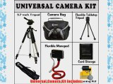 Super Deal Deluxe Accessory Starter Kit Includes 57 Inch PRO Tripod with Carrying Case Compact