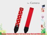Disney Camera Designer Full-Neck Strap (Red and White Dots)