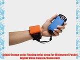 Kodak Floating Wrist Strap for Waterproof Pocket Digital Video Camera/Camcorder (Orange)