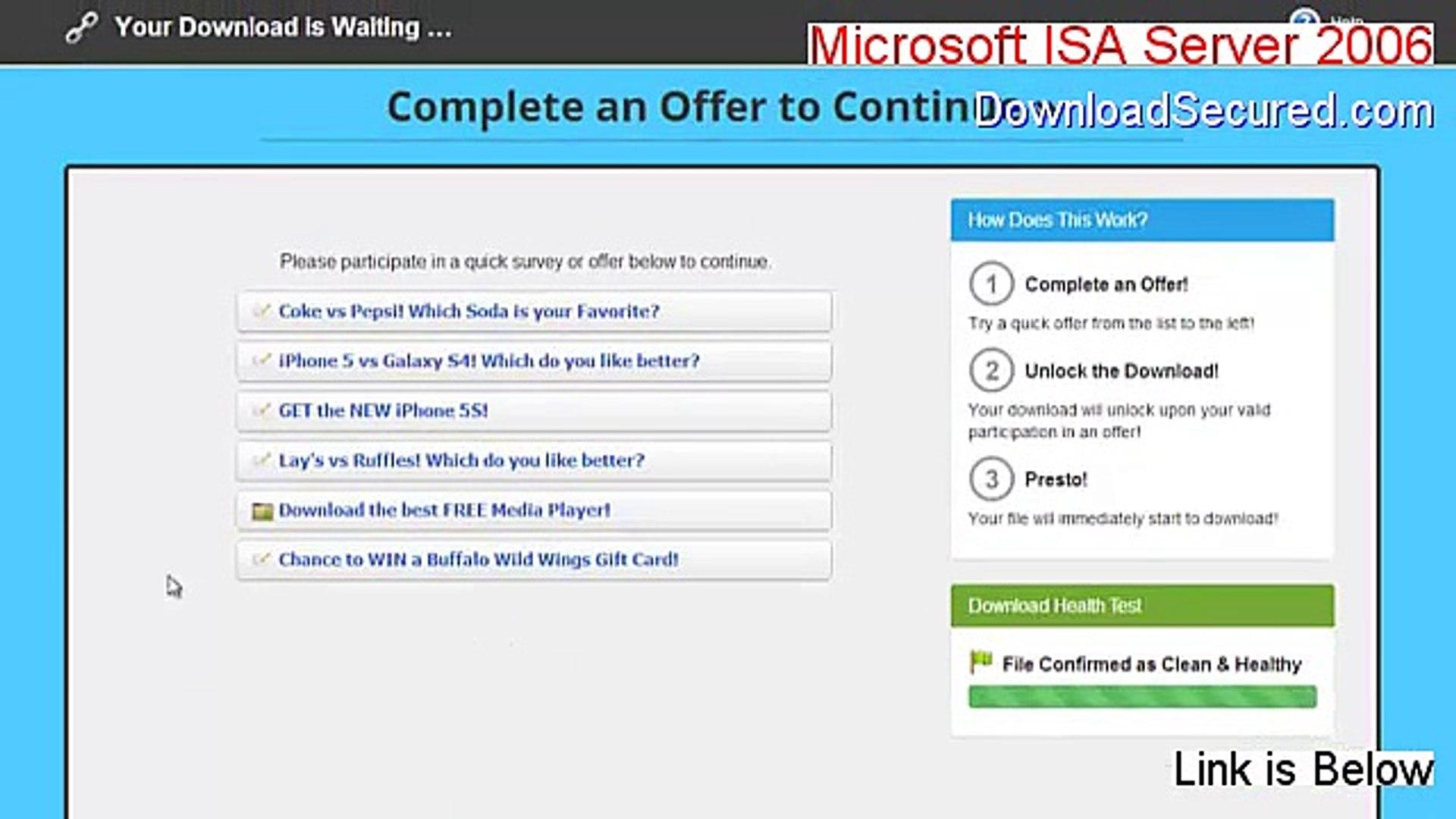 Microsoft ISA Server 2006 Crack (Download Now 2015)