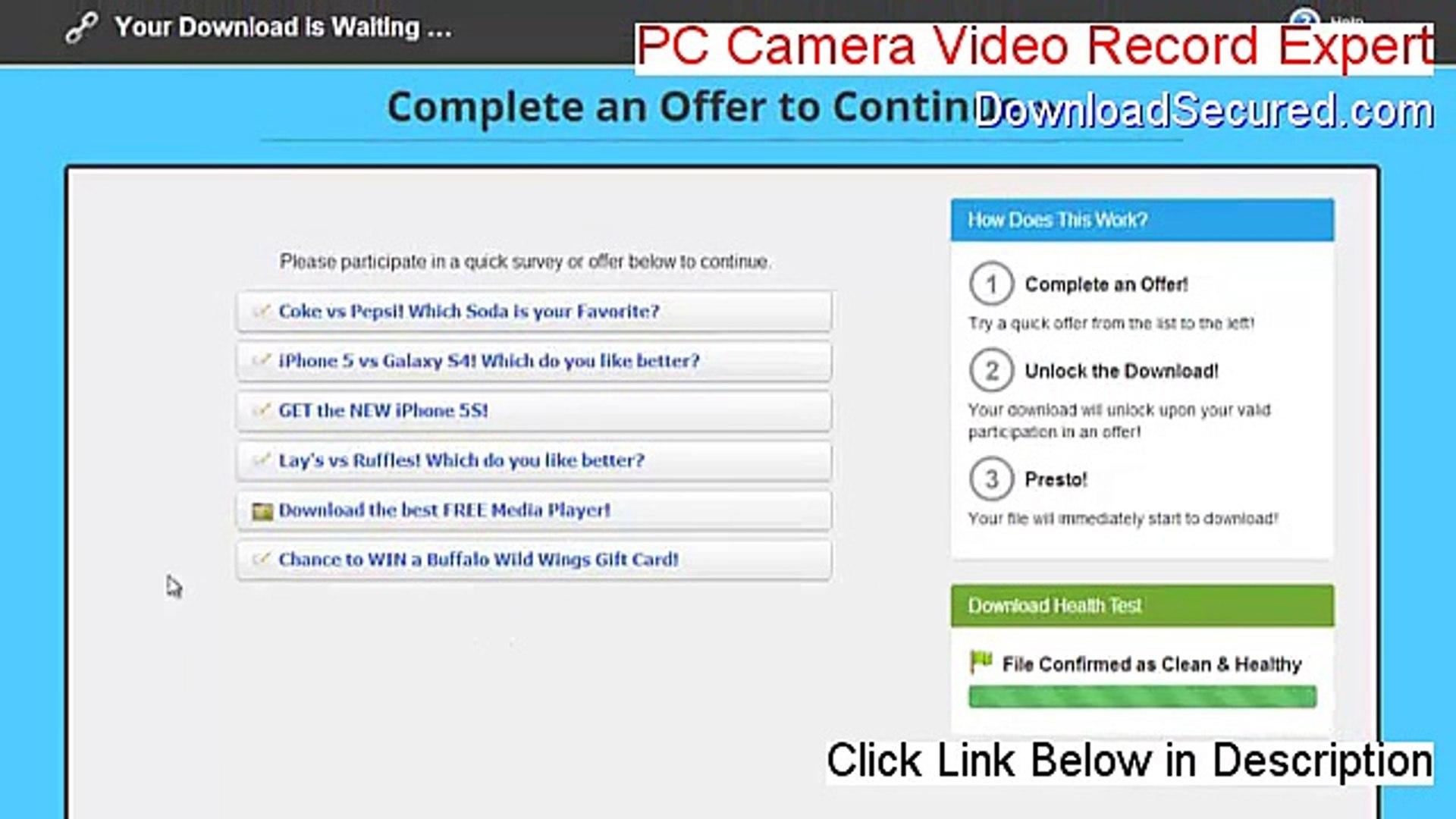 TÉLÉCHARGER PC CAMERA VIDEO RECORD EXPERT V1.0.0.1