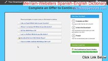 Merriam-Websters Spanish-English Dictionary Serial (Risk Free Download)