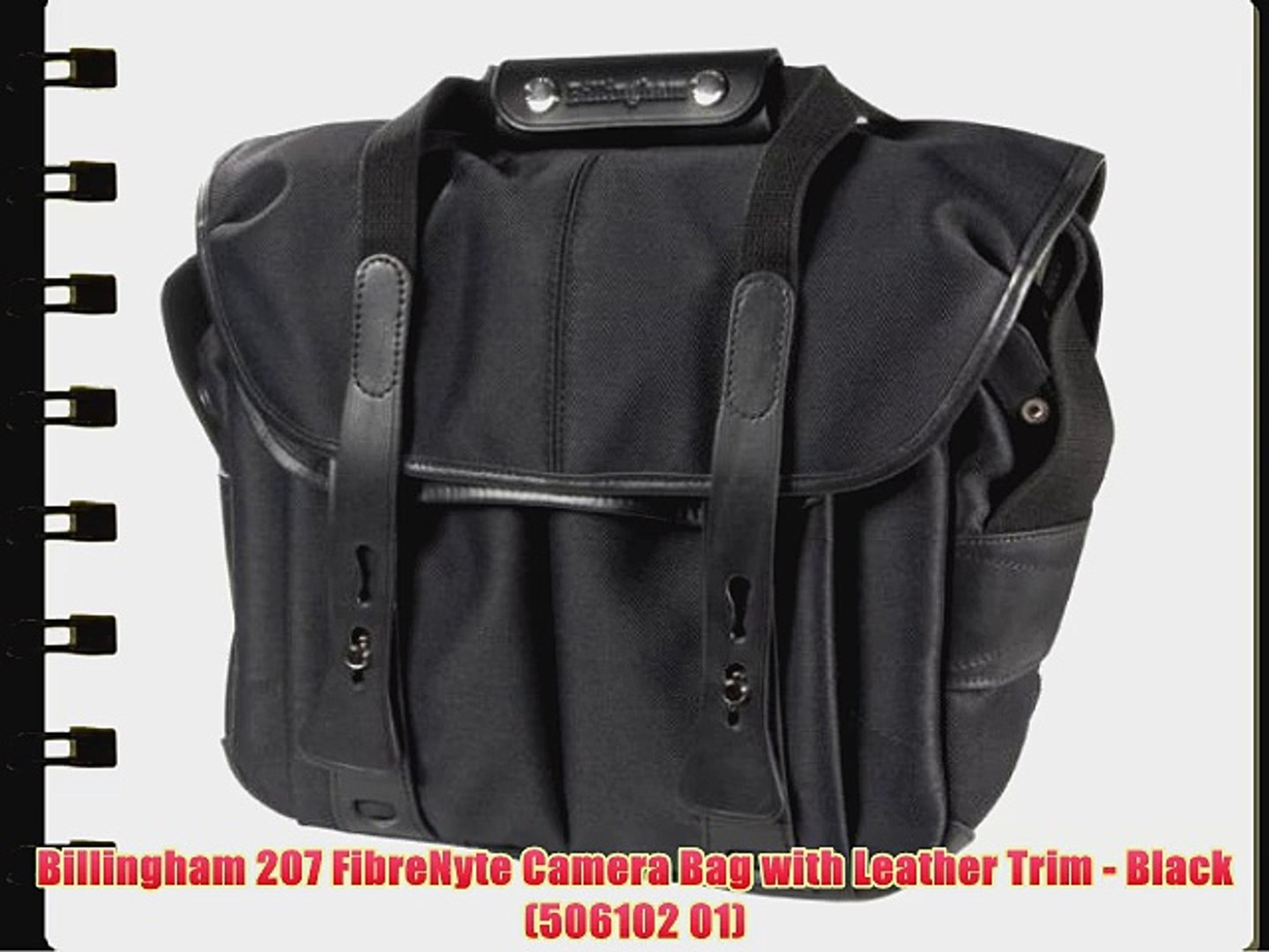 Billingham 207 Black FibreNyte Camera Bag with Black Leather Trim