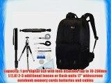 Lowepro Fastpack 350 Backpack (Black)   Accessory Kit for Nikon D3/D3S/D3X/D40/D50/D60/D70S/D80/D90/D700/D300/D300S/D7000/D90/D5100/D5000/D3100/D3000/FM10/F100
