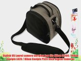 (Steel Gray) Laurel VG Camera Bag w/ Removable Shoulder Strap for Nikon D7100 / Nikon Coolpix