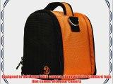 (Orange) Laurel VG Camera Bag w/ Removable Shoulder Strap for Nikon D7100 / Nikon Coolpix L820