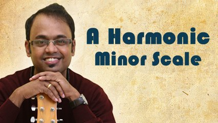 How To Play - A Harmonic Minor Scale - Guitar Lesson For Beginners