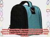 SumacLife Laurel Edition Compact Sky Blue / Baby Blue Nylon Camera Carrying Bag for Nikon Camera