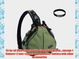 Eggsnow Camera Bag One Shoulder Triangle Nylon Bag for All DSLR Cameras as Canon Nikon Sony