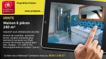 A vendre - maison - NOGENT SUR VERNISSON (45290) - 6 pièces - 240m²