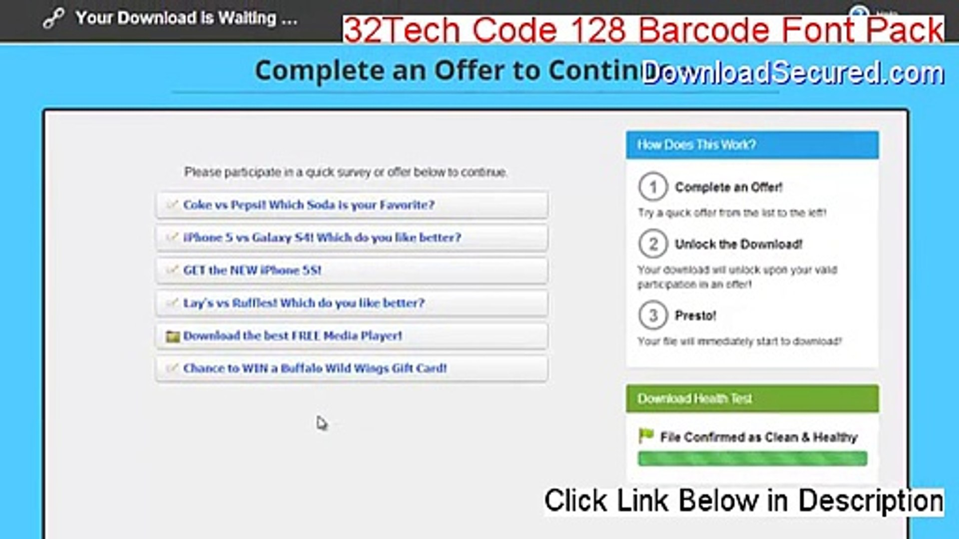 32Tech Code 128 Barcode Font Pack Serial (Risk Free Download)