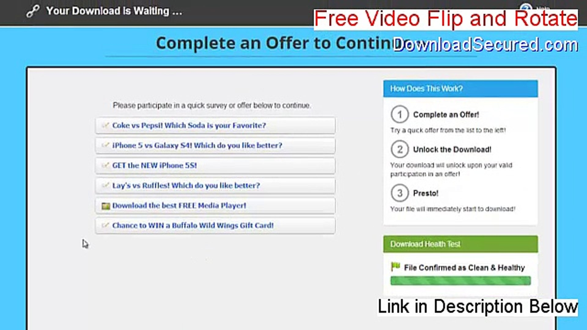 free video flip and rotate premium key