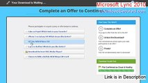 Microsoft Lync 2010 (64-Bit) Download Free - Instant Download