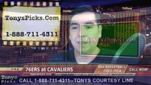 Cleveland Cavaliers vs. Philadelphia 76ers Free Pick Prediction NBA Pro Basketball Odds Preview 2-2-2015