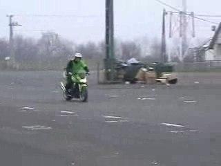Kawasaki Z 1000 stunt