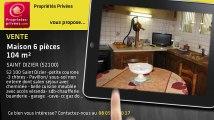 A vendre - maison - SAINT DIZIER (52100) - 6 pièces - 104m²