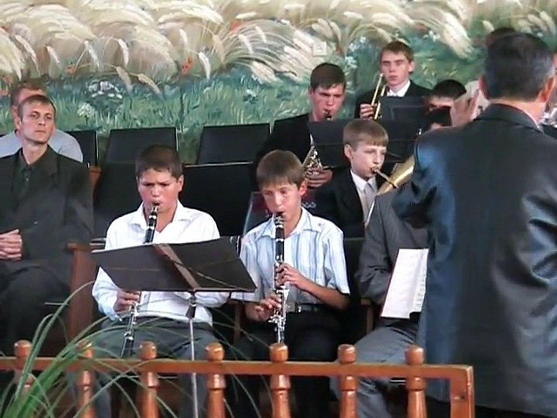 Духовий оркестр Церкви ХВЄП м. Нова Каховка у м. Херсон (пресвітер Анікеєнко С.В.) літо 2006 року