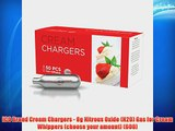 ICO Brand Cream Chargers - 8g Nitrous Oxide (N2O) Gas for Cream Whippers (choose your amount)