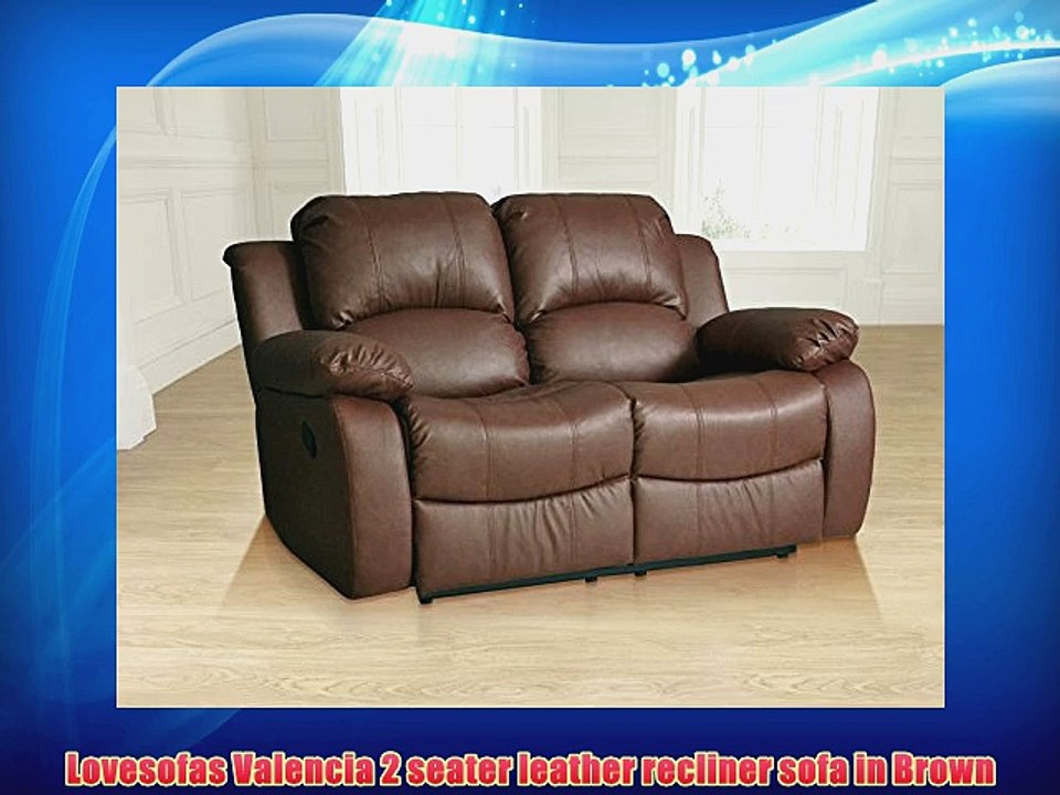 Miraculous Lovesofas Valencia 2 Seater Leather Recliner Sofa In Brown Alphanode Cool Chair Designs And Ideas Alphanodeonline