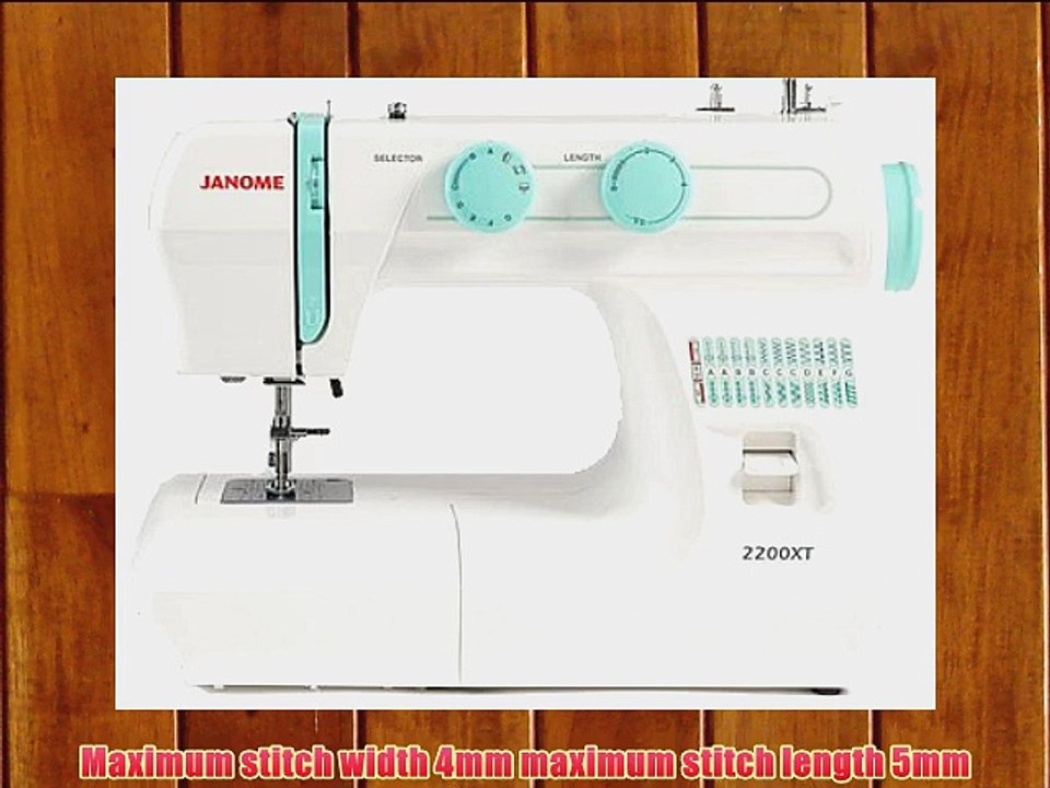 Janome 2200xt Sewing Machine Video Dailymotion