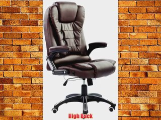 Executive Manager Recline PU leather Office Chair Desk Chair E11 brown
