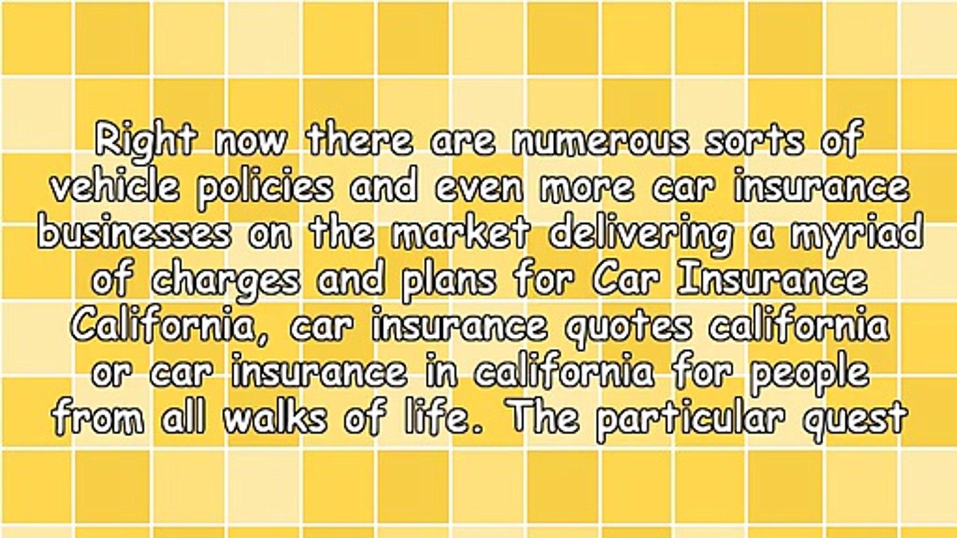 Car Insurance California Explained