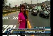 Independencia: Mujer cruzó imprudentemente la avenida Túpac Amaru y sobrevivió a embestida de auto [VIDEO]