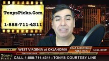 Oklahoma Sooners vs. West Virginia Mountaineers Free Pick Prediction NCAA College Basketball Odds Preview 2-3-2015