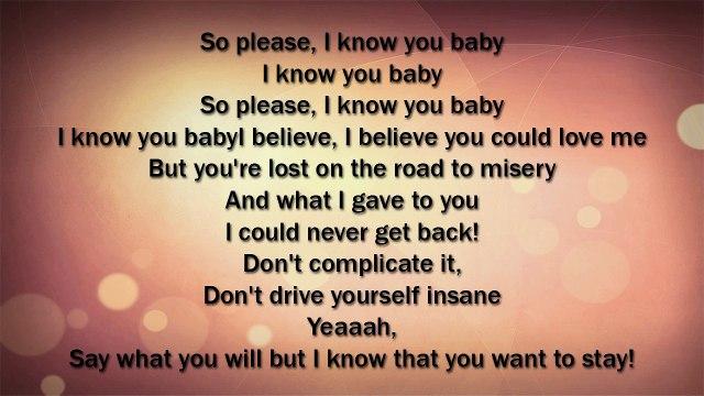 "Skylar Grey - I Know You ""50 Shades of Grey"" LYRICS"