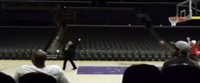 Kobe Bryant Wife Vanessa Hits Backward Shot at Staples Center at 4 a.m