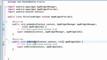 Android Application Development - 163 - Updating and Deleting Widget