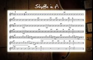 Blues Shuffle In A Jam Track - Guitar Backing Track