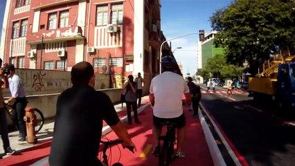 Luciano Rezende inaugura ciclovia das docas