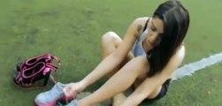 Fan Football   Argentine model Fiorella Castillo shows her freestyle football skills in heels