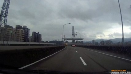 Dashcam footage captures fatal TransAsia plane bridge crash