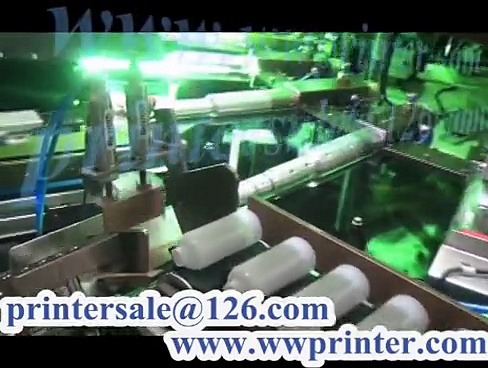 cosmetic bottle container auto screen printer/soft or hard tube screen printing decorating machine