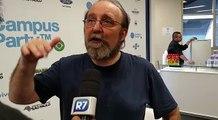 Miguel Nicolelis conversa com o R7 na Campus Party Brasil