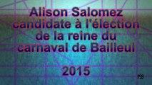 Alison Salomez, candidate à l'élection de la reine du carnaval de Bailleul