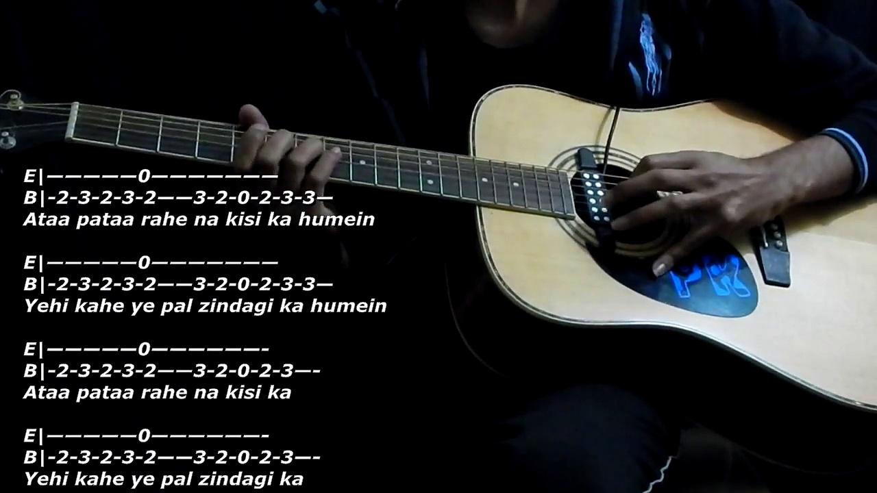 Sooraj Dooba Hai ROY | Guitar tutorial | TABS