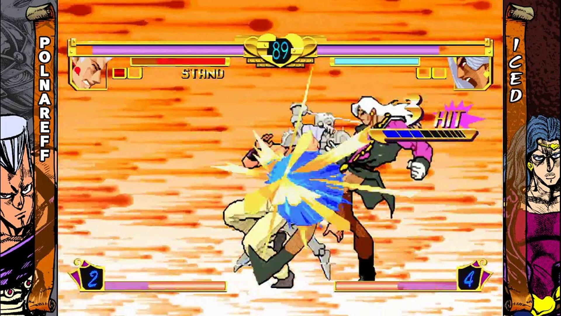 Extrait / Gameplay - Jojo's Bizarre Adventure HD (Gameplay Polnareff VS Iced - HD Fight)