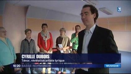 France 3 Basse Normandie - Cyrille Dubois nommé Révélation Artiste Lyrique 2015 aux victoires de la musique Classique