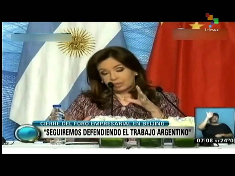 Argentine, Chinese presidents meet in Beijing