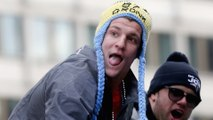 Rob Gronkowski Doing Gronk Things at Patriots Victory Parade