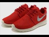 2015 Chaussures Nike Roshe Run Homme Rouge et blanc