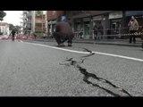"""Napoli - Maltempo, strada """"spaccata"""" ai Colli Aminei (04.02.15)"""
